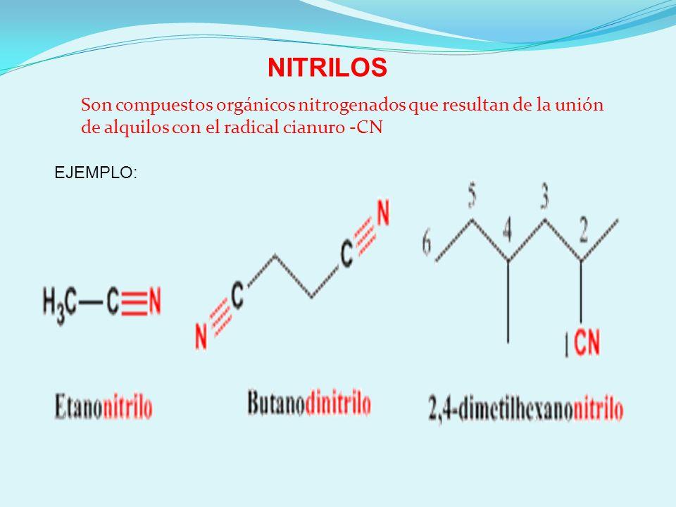 NOMENCLATURA DE NITRILOS ¿Cómo se nombran los nitrilos.