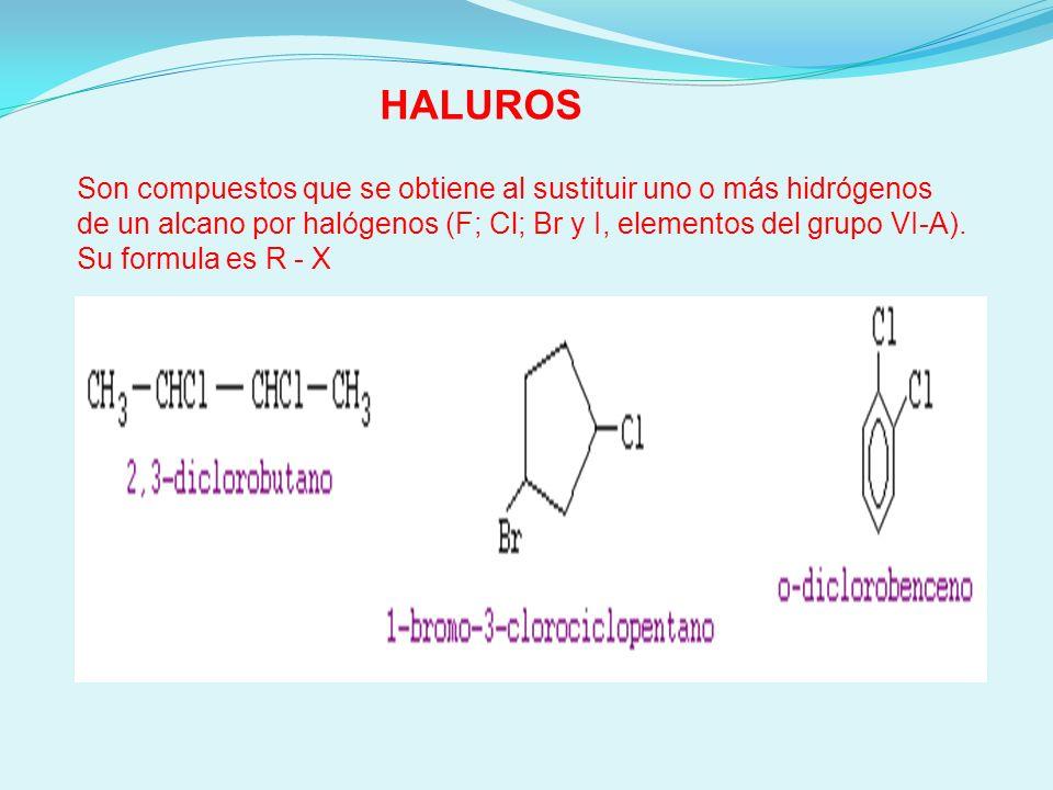 ¿Cómo se nombran los haluros.
