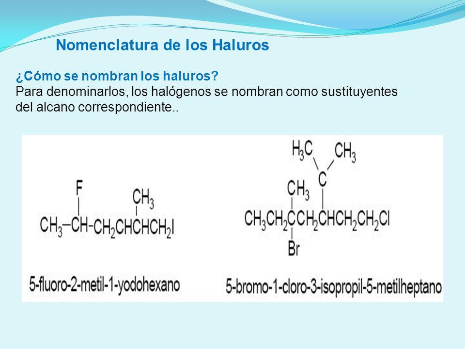 Estructura y propiedades físicas Los haluros orgánicos son moléculas polares con fuerzas intermoleculares mayores que los hidrocarburos de los que proceden y por tanto con puntos de ebullición más altos que éstos.