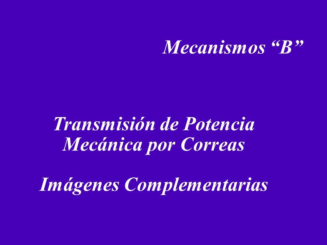 Mecanismos B Transmisión de Potencia Mecánica por Correas Imágenes Complementarias