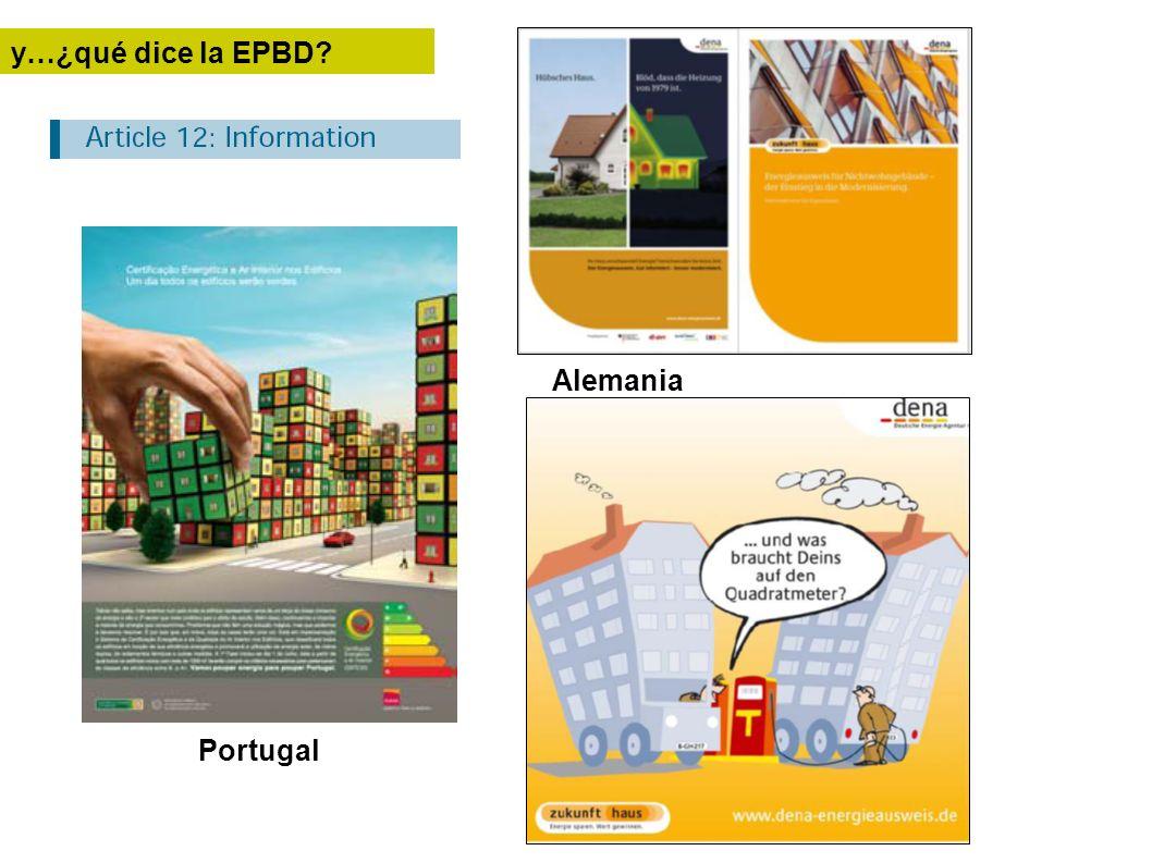 Portugal y…¿qué dice la EPBD? Alemania