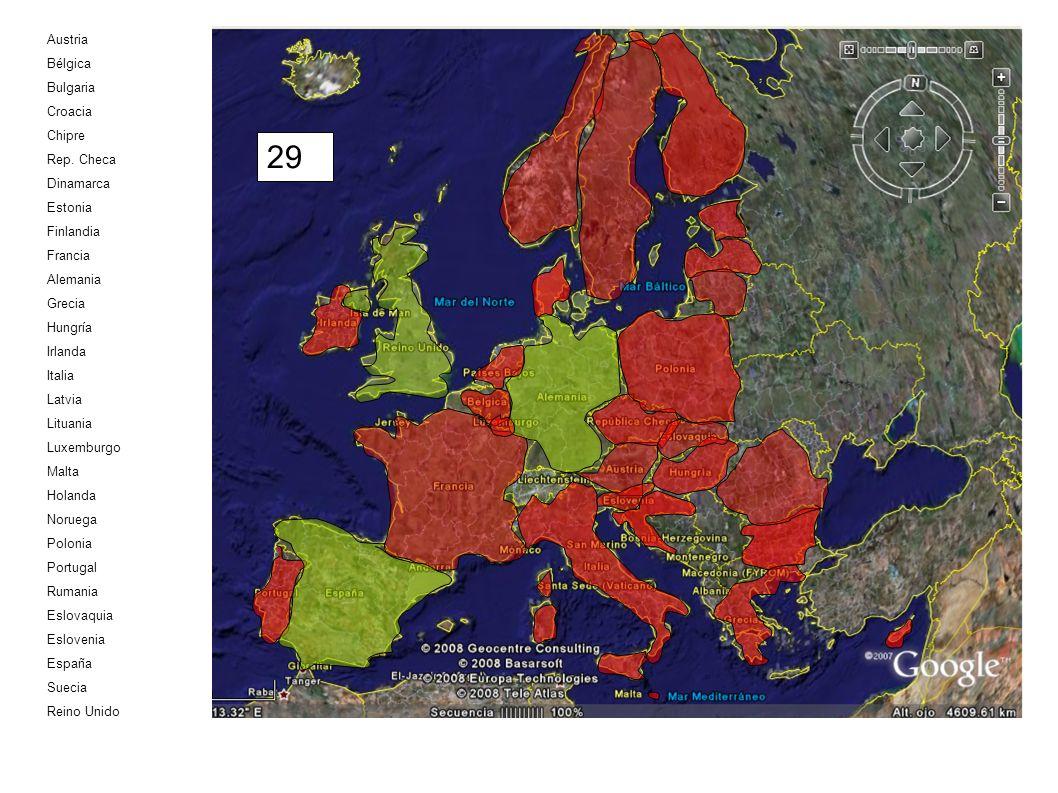 Austria Bélgica Bulgaria Croacia Chipre Rep. Checa Dinamarca Estonia Finlandia Francia Alemania Grecia Hungría Irlanda Italia Latvia Lituania Luxembur