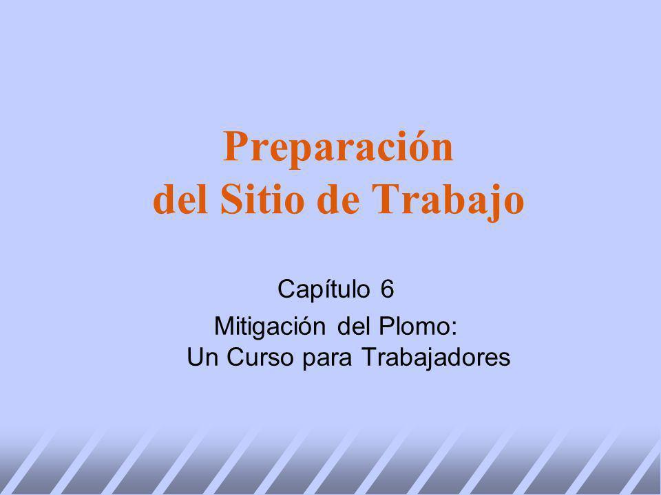 Preparación del Sitio de Trabajo Capítulo 6 Mitigación del Plomo: Un Curso para Trabajadores