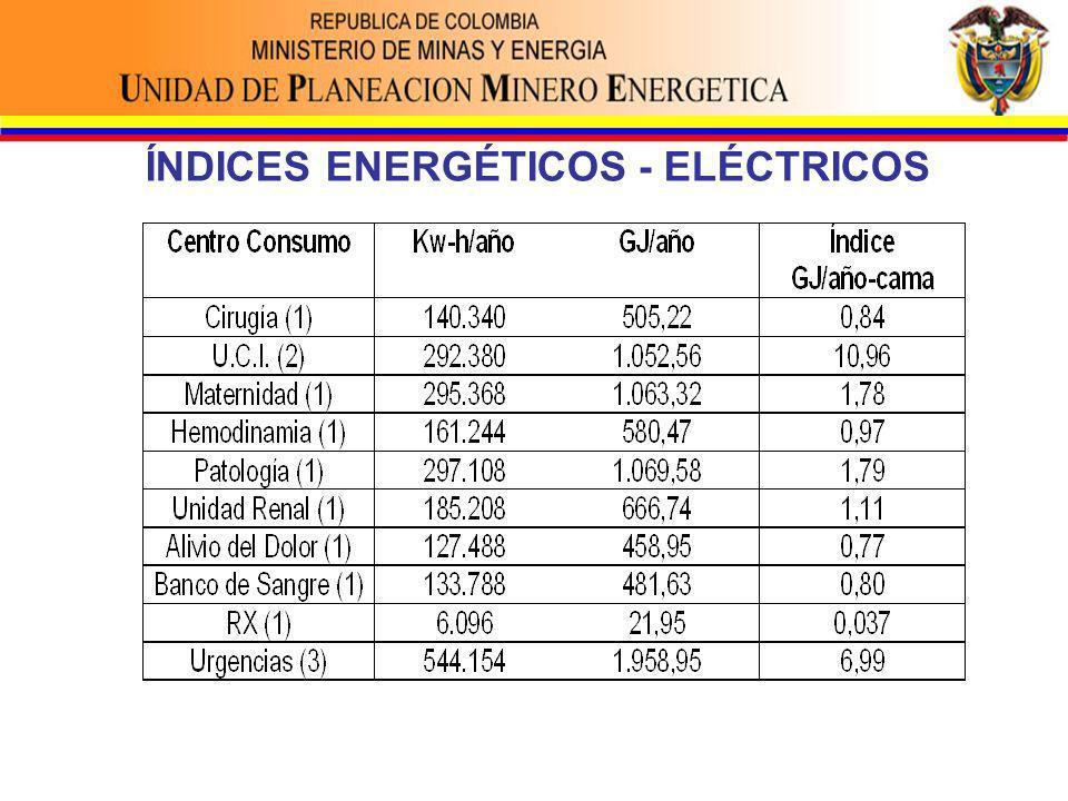 ÍNDICES ENERGÉTICOS - ELÉCTRICOS