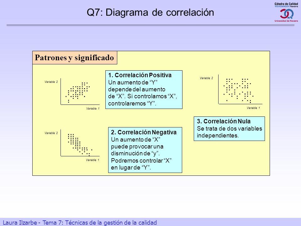 12 Laura Ilzarbe - Tema 7: Técnicas de la gestión de la calidad Patrones y significado Variable 1 Variable 2..........................................