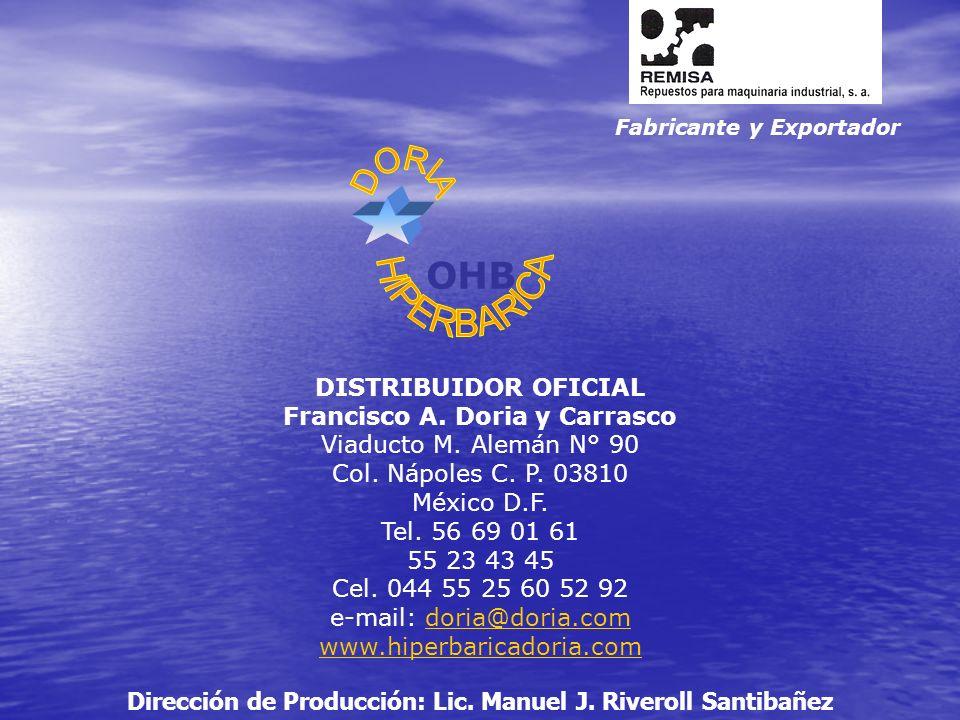 Fabricante y Exportador OHB DISTRIBUIDOR OFICIAL Francisco A.