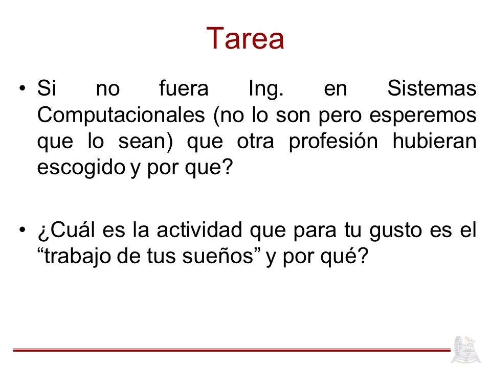 Tarea Si no fuera Ing.