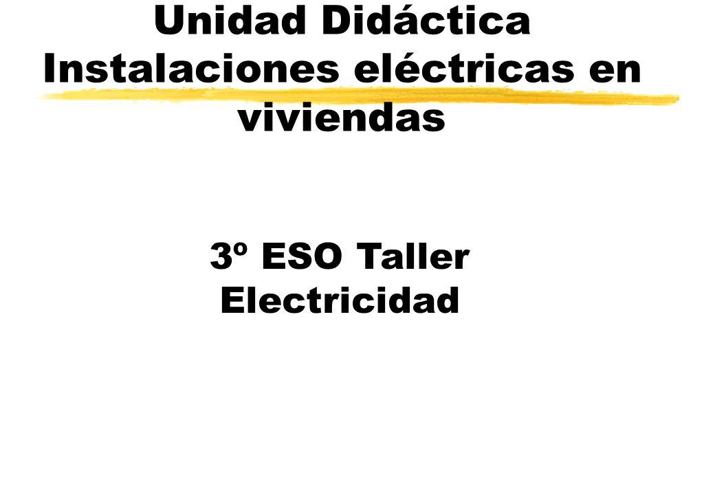 Unidad Didáctica Instalaciones eléctricas en viviendas 3º ESO Taller Electricidad