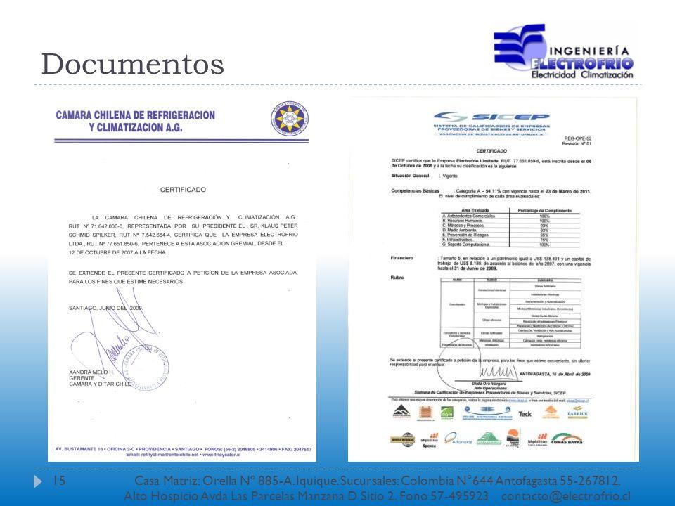 Documentos 15Casa Matriz: Orella Nº 885-A. Iquique. Sucursales: Colombia N°644 Antofagasta 55-267812, Alto Hospicio Avda Las Parcelas Manzana D Sitio