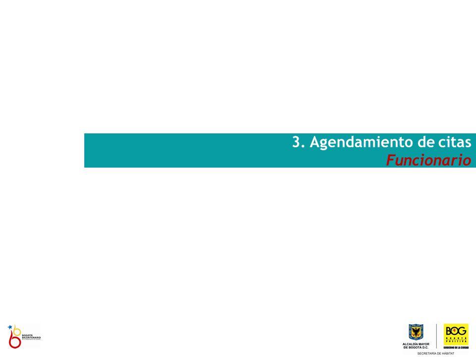 3. Agendamiento de citas Funcionario