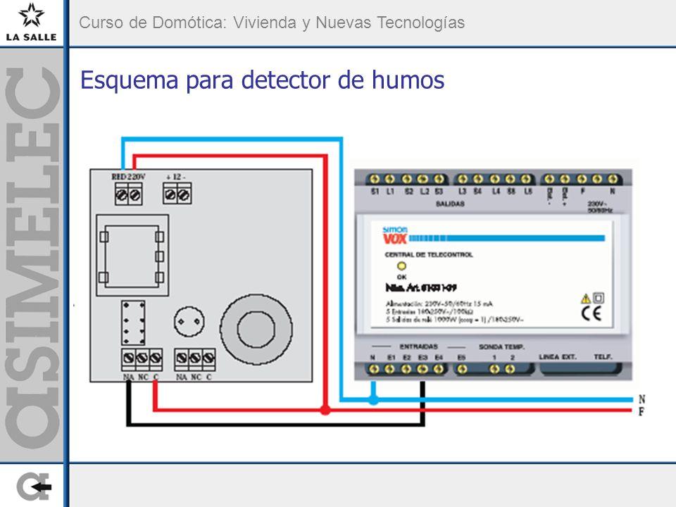 Curso de Domótica: Vivienda y Nuevas Tecnologías Esquema para detector de humos