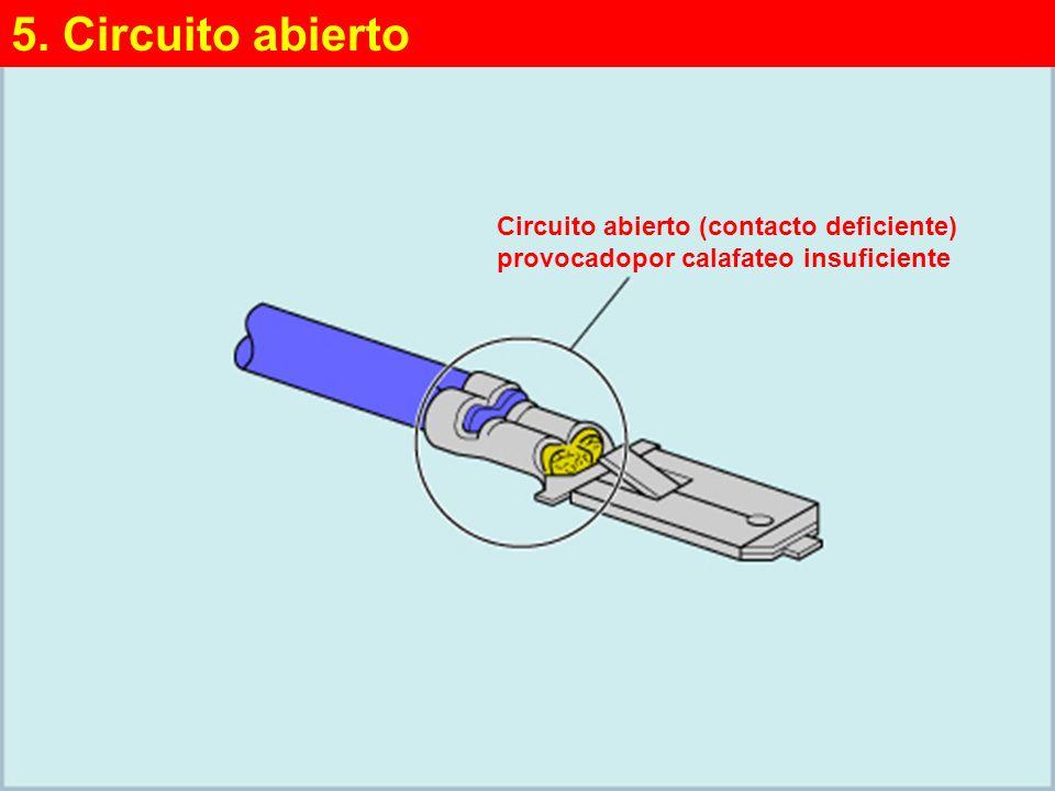 (4/4)(4/4) Circuito abierto (contacto deficiente) provocadopor calafateo insuficiente 5.
