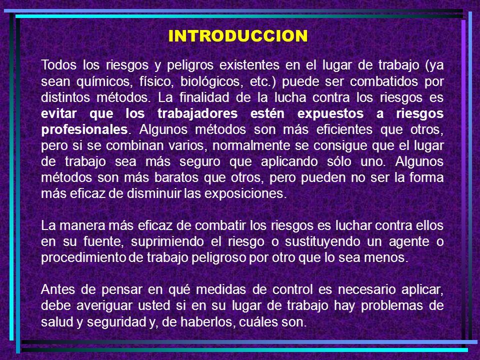 F. Otros métodos de control 1. Limpieza general 2. La higiene personal