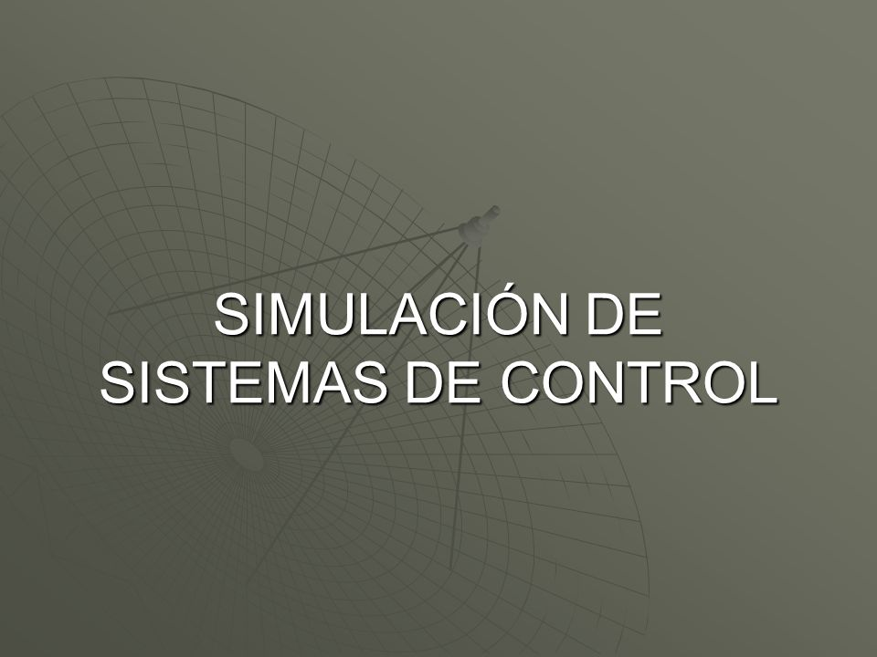 ¿Qué es un Sistema de Control.