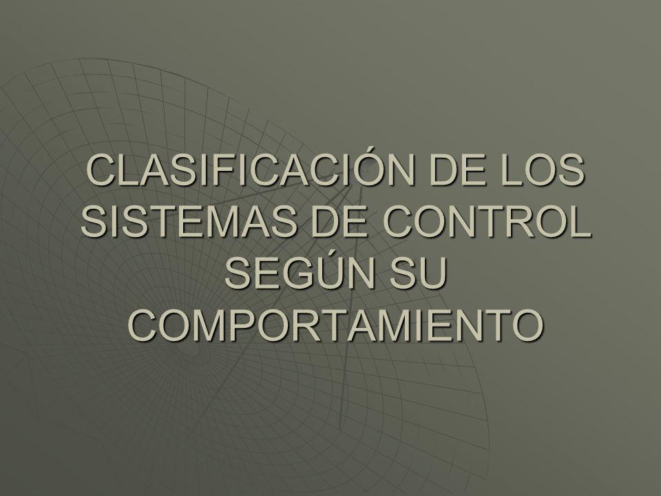SISTEMA DE CONTROL DE LAZO ABIERTO Es aquel sistema en que solo actúa el proceso sobre la señal de entrada y da como resultado una señal de salida independiente a la señal de entrada, pero basada en la primera.