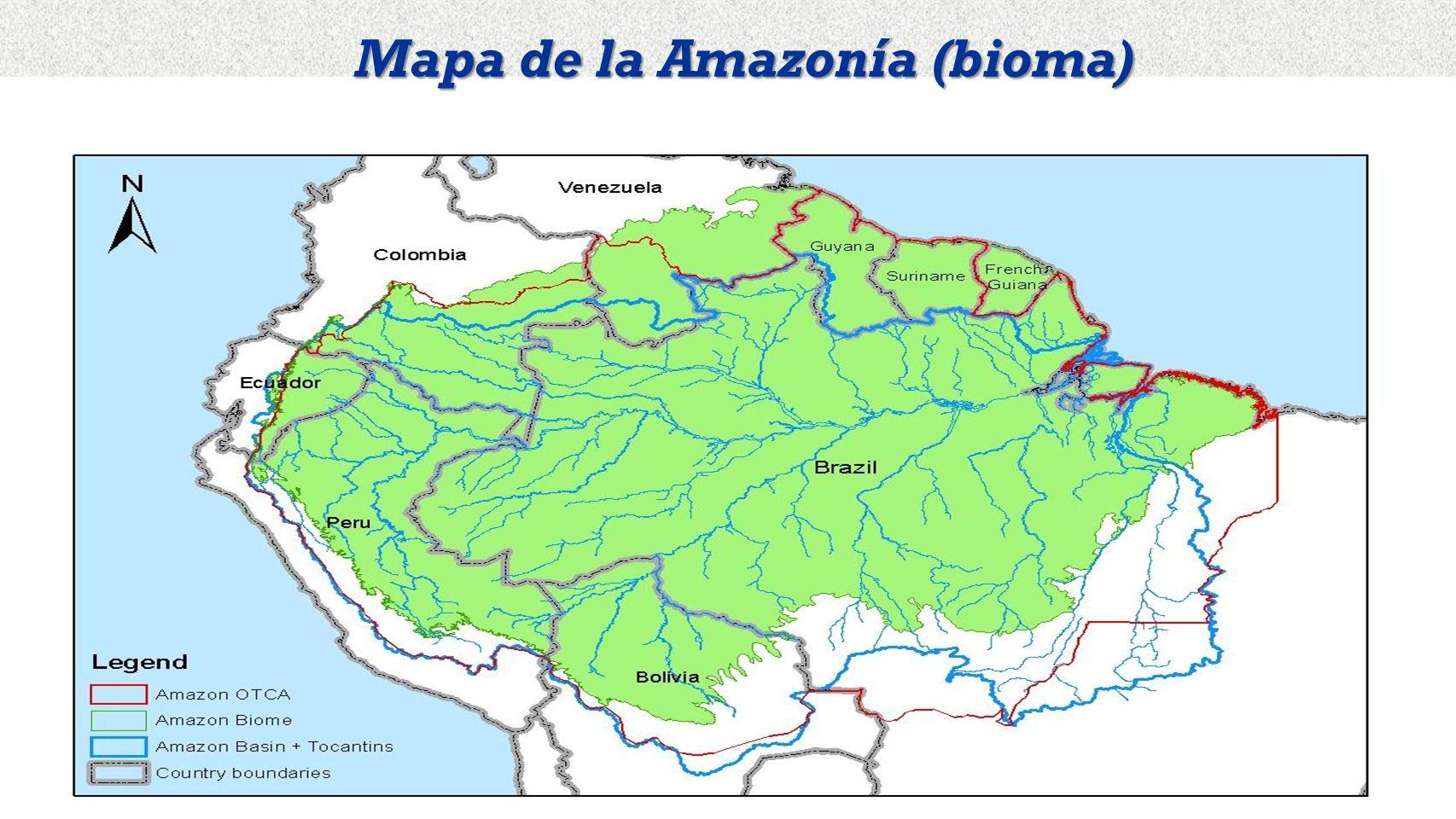 Mapa de la Amazonía (bioma)