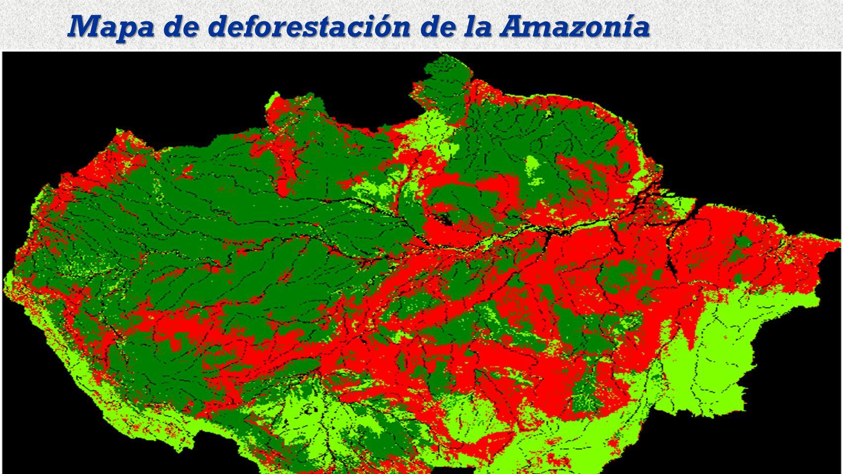Mapa de deforestación de la Amazonía
