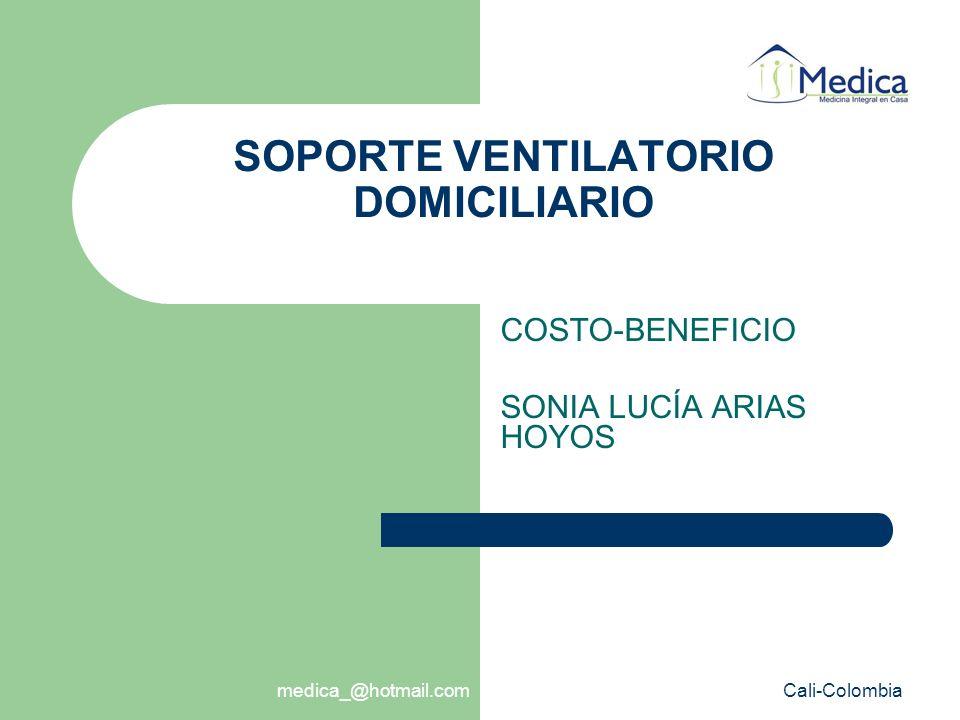 Ventilación Mecánica Domiciliaria PORQUÉ .