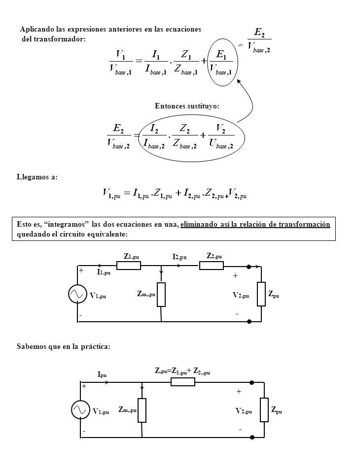 Aplicando las expresiones anteriores en las ecuaciones del transformador: = Entonces sustituyo: Llegamos a: Esto es, integramos las dos ecuaciones en