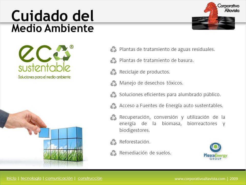 Cuidado del Medio Ambiente InicioInicio | tecnología | comunicación | construccióntecnología comunicaciónconstrucción Plantas de tratamiento de aguas residuales.