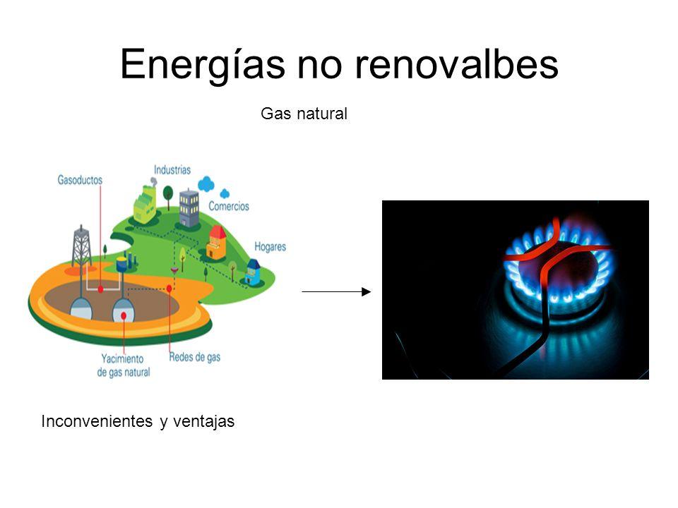 Energías no renovalbes Gas natural Inconvenientes y ventajas