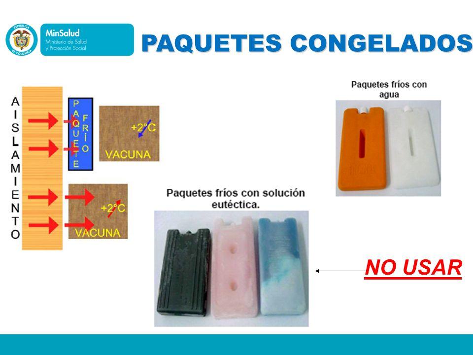 PAQUETES CONGELADOS NO USAR