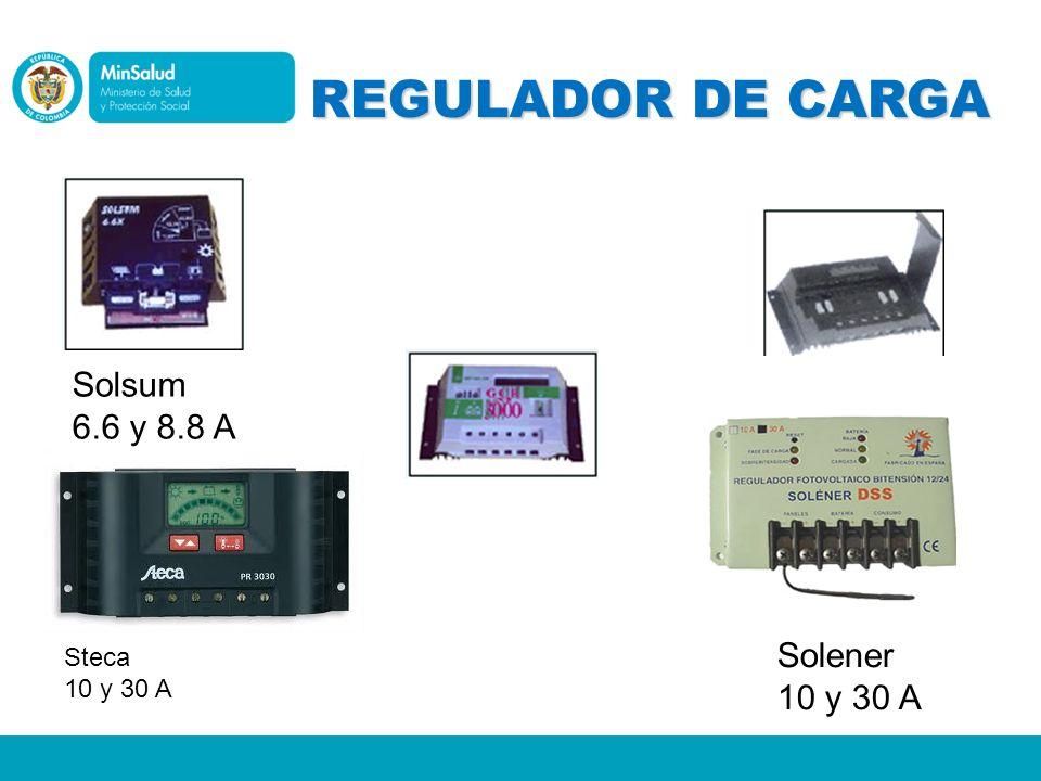 REGULADOR DE CARGA Solsum 6.6 y 8.8 A Solener 10 y 30 A Steca 10 y 30 A