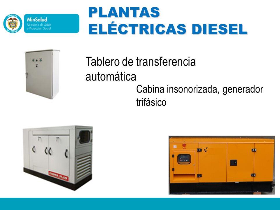 PLANTAS ELÉCTRICAS DIESEL Tablero de transferencia automática Cabina insonorizada, generador trifásico
