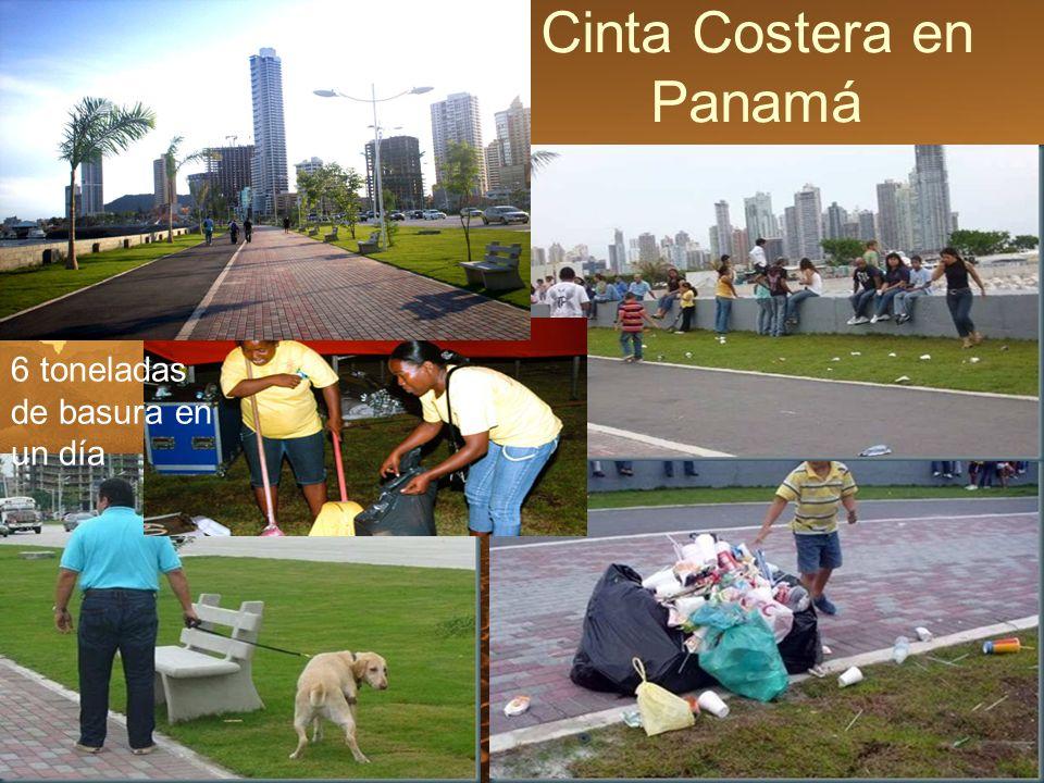 Cinta Costera en Panamá 6 toneladas de basura en un día