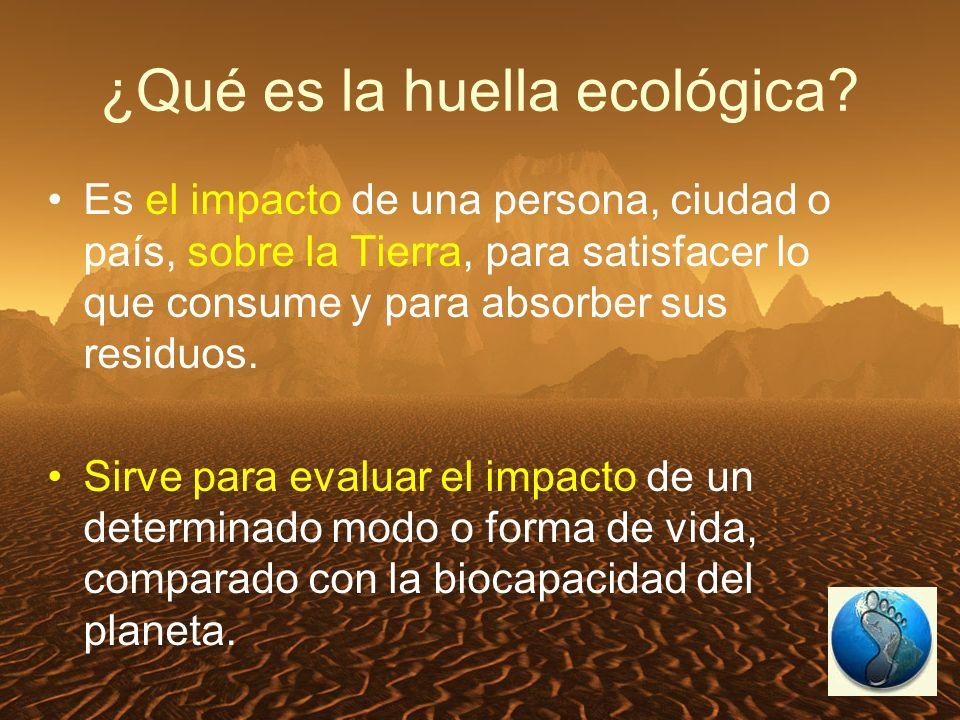 ¿Qué es la huella ecológica.