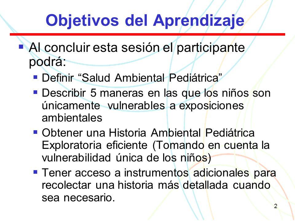 3 Marco de Referencia 1.Definición: ¿Qué es Salud Ambiental Pediátrica.
