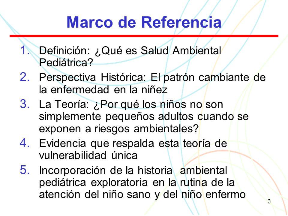 3 Marco de Referencia 1. Definición: ¿Qué es Salud Ambiental Pediátrica.