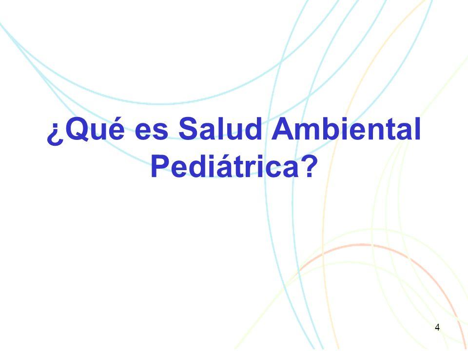 4 ¿Qué es Salud Ambiental Pediátrica
