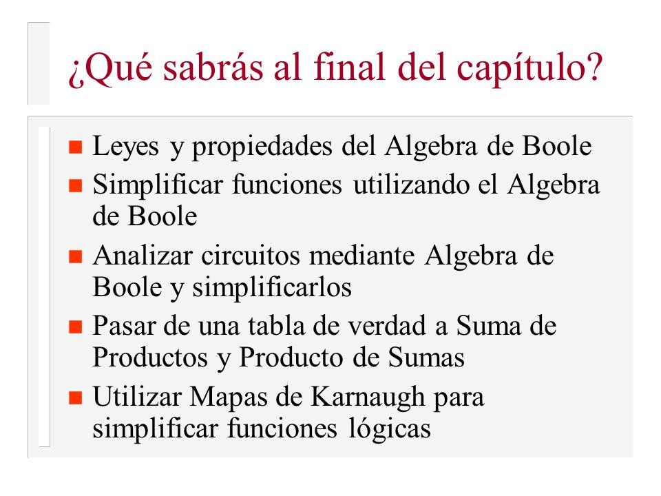 Cálculo de la expresión algebraica de salida (ejemplo 1)