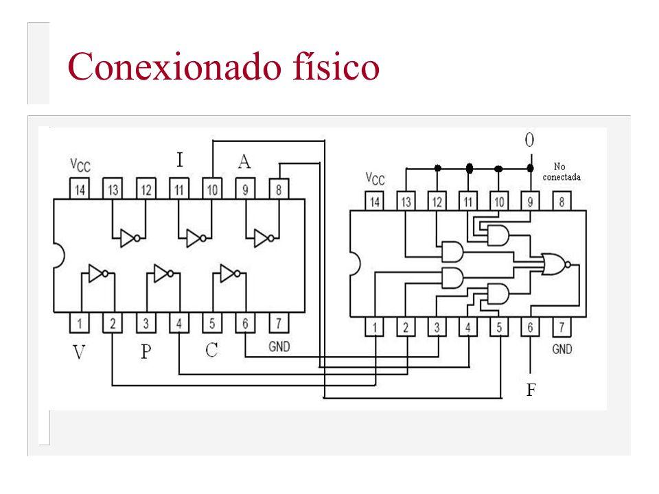 Patillaje de los circuitos 7404 y 7454 74047454