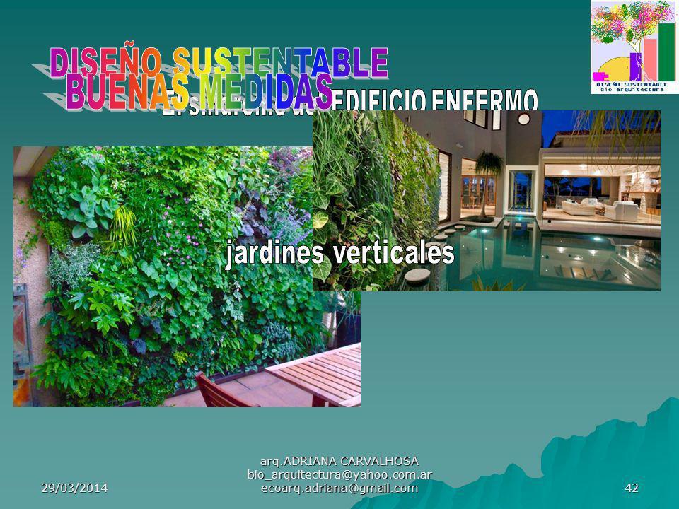 29/03/2014 arq.ADRIANA CARVALHOSA bio_arquitectura@yahoo.com.ar ecoarq.adriana@gmail.com 42