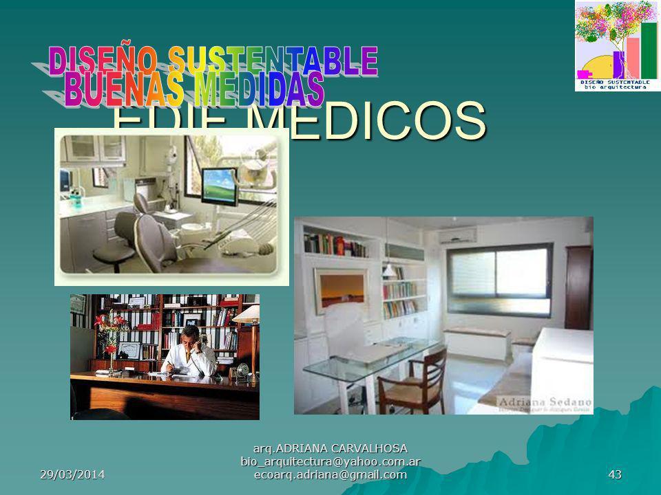 29/03/2014 arq.ADRIANA CARVALHOSA bio_arquitectura@yahoo.com.ar ecoarq.adriana@gmail.com 43 EDIF.MEDICOS