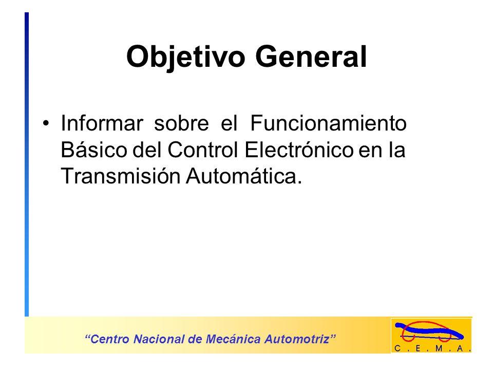 Transmisión Automática Con Control Electrónico Centro Nacional de Mecánica Automotriz