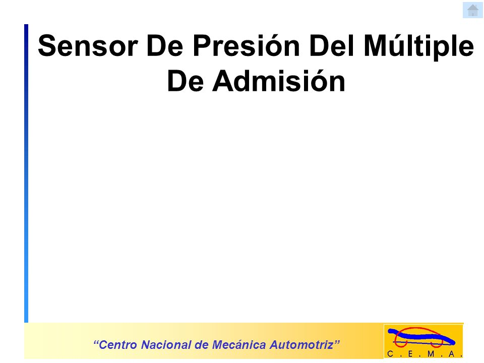 Sensor De Presión Del Múltiple De Admisión Centro Nacional de Mecánica Automotriz TCM