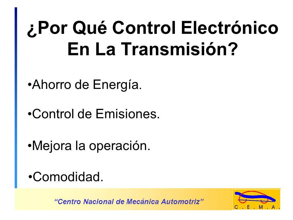 Centro Nacional de Mecánica Automotriz Ejemplo: Control de presión hidráulica.