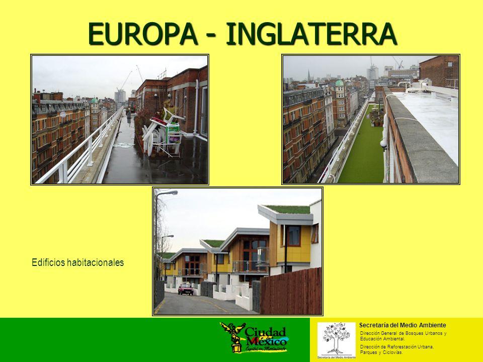 EUROPA - INGLATERRA Edificios habitacionales Secretaría del Medio Ambiente Dirección General de Bosques Urbanos y Educación Ambiental. Dirección de Re