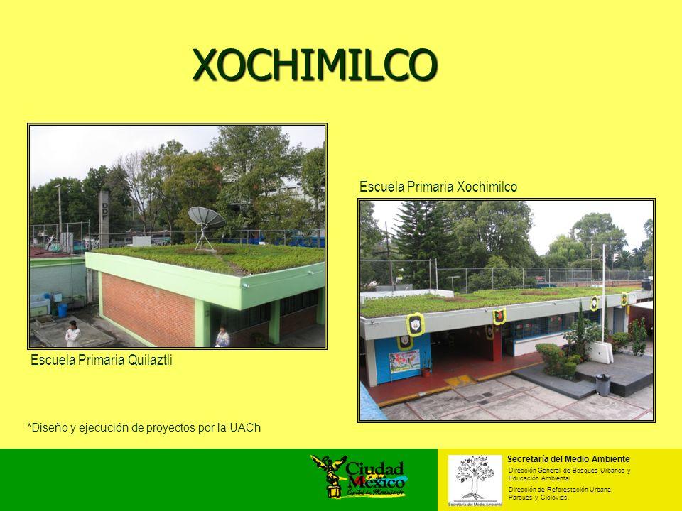 XOCHIMILCO Escuela Primaria Xochimilco Escuela Primaria Quilaztli Secretaría del Medio Ambiente Dirección General de Bosques Urbanos y Educación Ambie