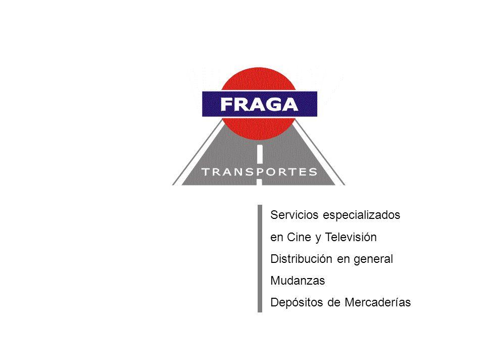 Servicios especializados en Cine y Televisión Distribución en general Mudanzas Depósitos de Mercaderías