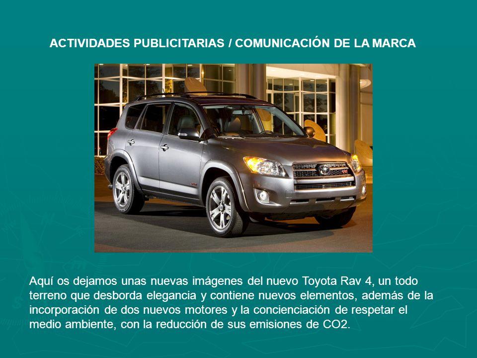 Aquí os dejamos unas nuevas imágenes del nuevo Toyota Rav 4, un todo terreno que desborda elegancia y contiene nuevos elementos, además de la incorporación de dos nuevos motores y la concienciación de respetar el medio ambiente, con la reducción de sus emisiones de CO2.
