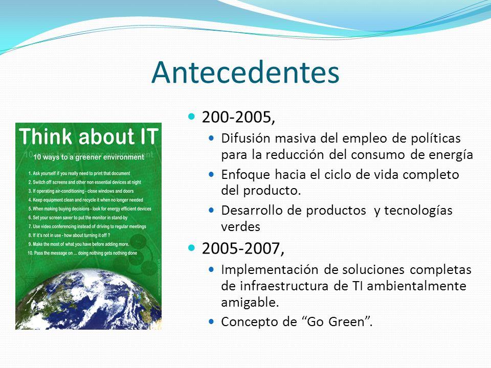 Antecedentes 200-2005, Difusión masiva del empleo de políticas para la reducción del consumo de energía Enfoque hacia el ciclo de vida completo del pr