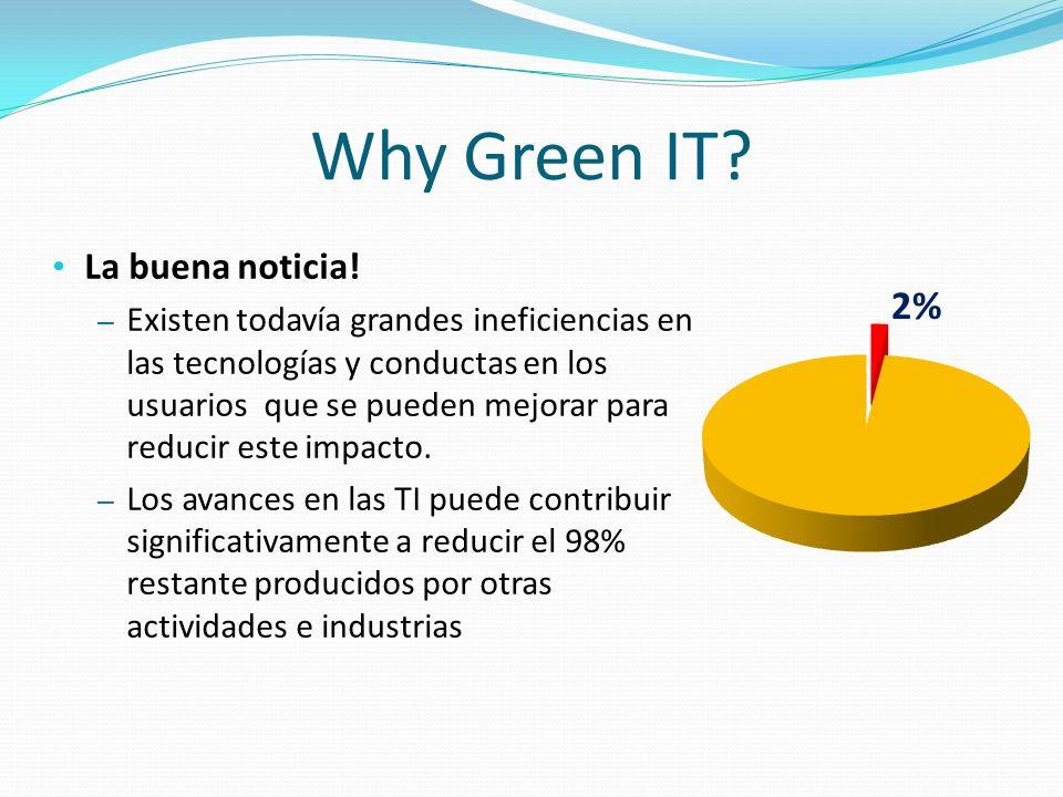 Why Green IT? La buena noticia! – Existen todavía grandes ineficiencias en las tecnologías y conductas en los usuarios que se pueden mejorar para redu