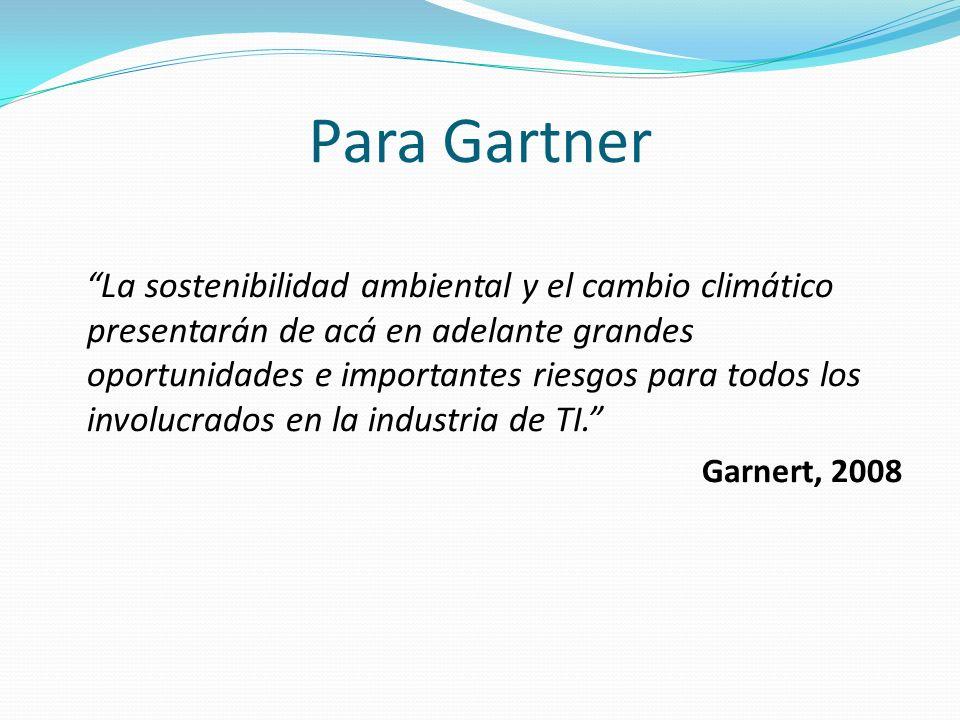 Para Gartner La sostenibilidad ambiental y el cambio climático presentarán de acá en adelante grandes oportunidades e importantes riesgos para todos l