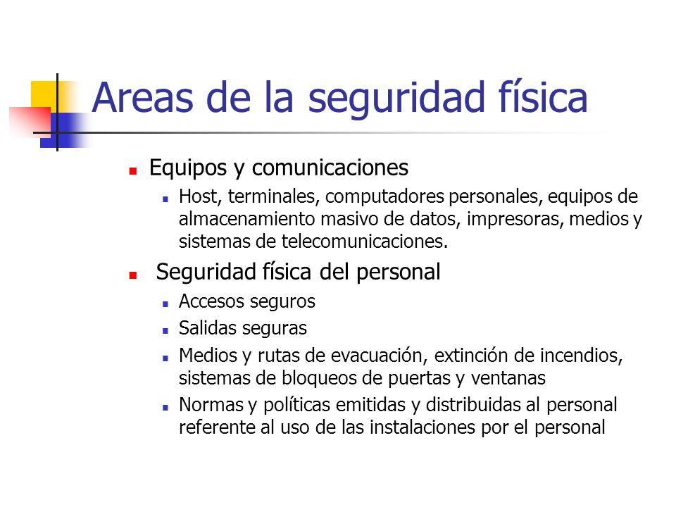 Equipos y comunicaciones Host, terminales, computadores personales, equipos de almacenamiento masivo de datos, impresoras, medios y sistemas de teleco