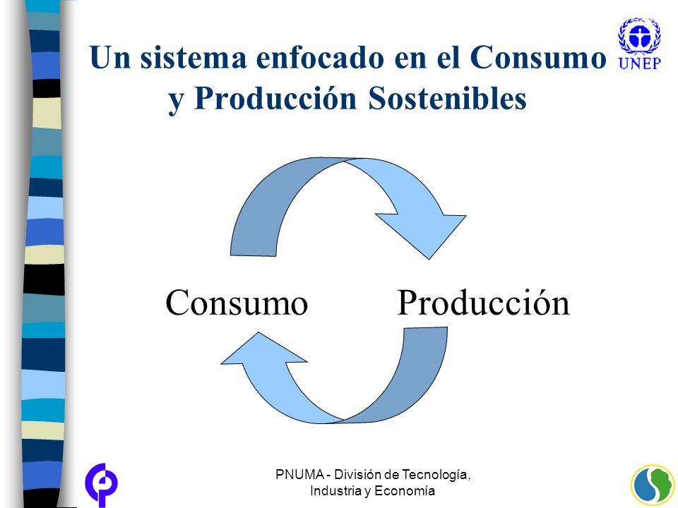 PNUMA - División de Tecnología, Industria y Economía Un sistema enfocado en el Consumo y Producción Sostenibles ConsumoProducción