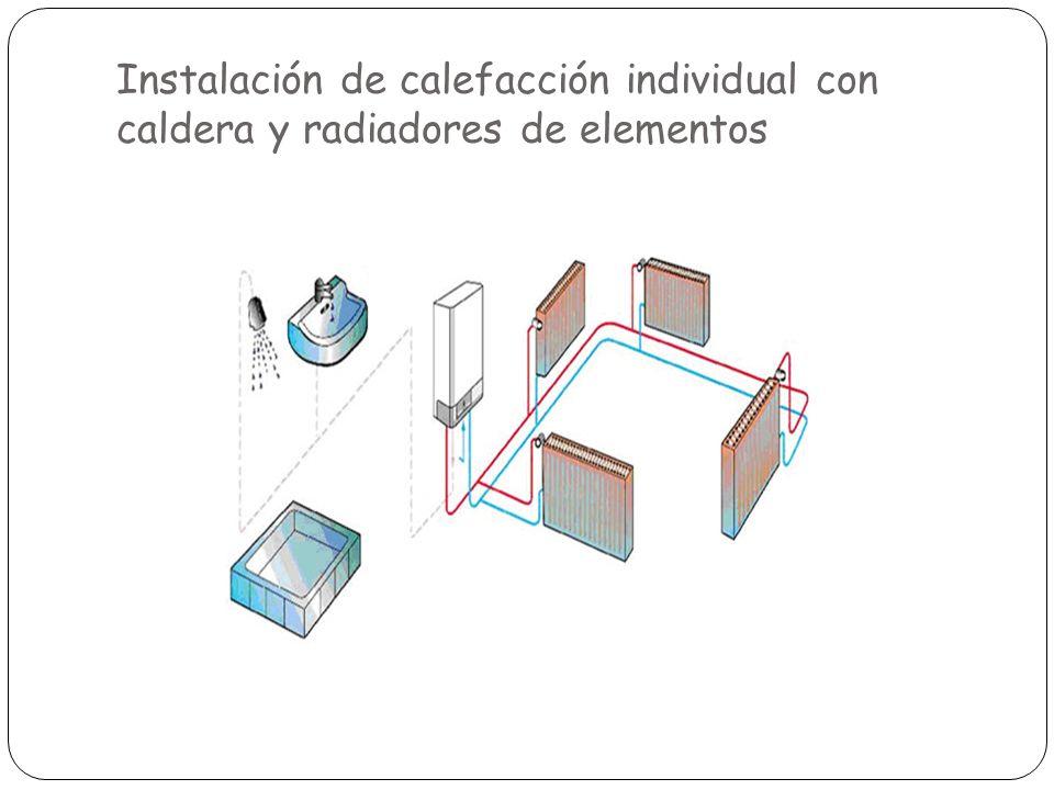 Instalación de calefacción individual con caldera y radiadores de elementos